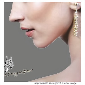 A String of Mini-Pearls Earrings | Your choice:  Pierced or Clips