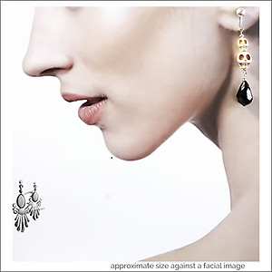 Happy Halloween Skull Earrings | Your choice:  Pierced or Clips