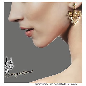 Gold Vermeil Filigree & Pearl Earrings | Your choice:  Pierced or Clips