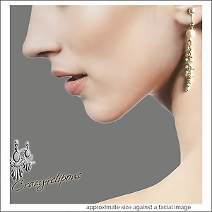 Dainty String Of Pearls Wedding Earrings | Your choice:  Pierced or Clips