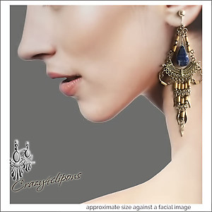 Ethnic & Dramatic. Solidate Chandelier Earrings | Your choice: Pierced or Clips