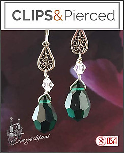 Evergreen Holiday Earrings | Your choice: Pierced or Clips