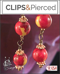 Dangling Indian Summer Earrings | Your choice:  Pierced or Clips