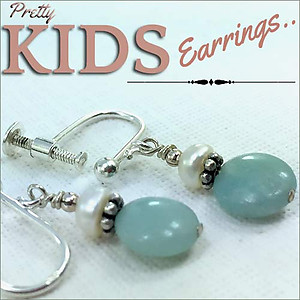Small Amazonite Earrings | Your choice: Pierced or Clips