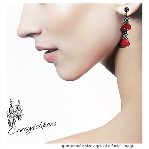 Cinco de Mayo: Senorita Earrings | Your choice:  Pierced or Clips
