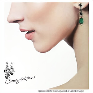 Petite Green Earrings | Your choice:  Pierced or Clips
