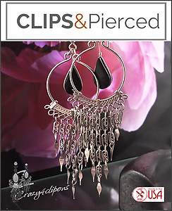 Large Hoop Earrings | Your choice:  Pierced or Clips