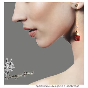 It's a Wood Thing.  Dangling Earrings | Your choice:  Pierced or Clips
