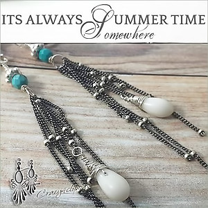 Oxidized Sterling Summer Fringe Earrings | Your choice:  Pierced or Clips