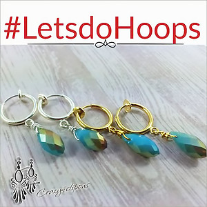 Spring Back Hoop Clip Earrings