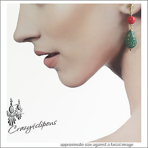 Teal & Ted Ethnic Teardrop Earrings | Your choice:  Pierced or Clips