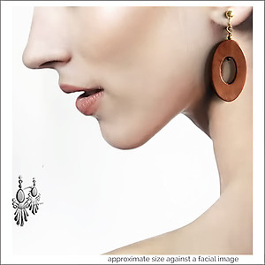 Leather Oval Hoop Earrings | Your choice:  Pierced or Clips
