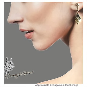Crowned Faux-Pearl Earrings | Your choice:  Pierced or Clips