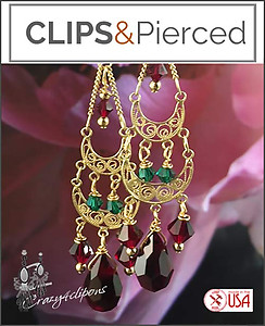 Christmas Spirit: Chandelier Earrings  |Pierced or Clips