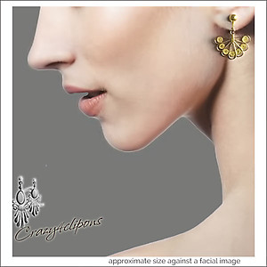 Vermeil Gold Filigree Fan Earrings | Your choice: Pierced or Clips