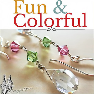 Sweet Dangling Swarovski Crystal Earrings | Your choice: Pierced or Clips