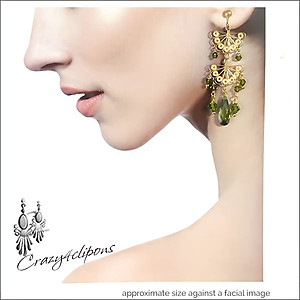 Gold Vermeil & Crystal Dangling Earrings