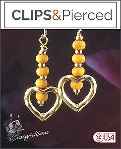 Yellow Hearts. Sweet Friendship Earrings