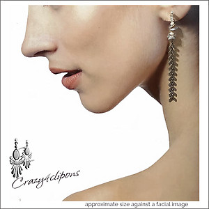 Dainty & Eclectic Dangling Earrings w/ invisible clips