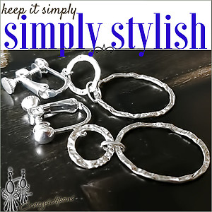 Hammered Silver Hoops| Pierced & Clip Ons