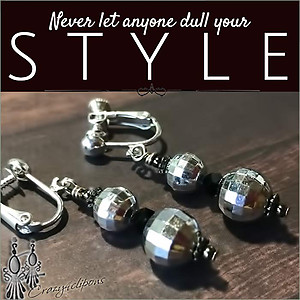 Playful Disco Ball Earrings| Pierced & Clip Ons