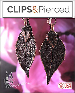 Antique Copper Leaves Earrings