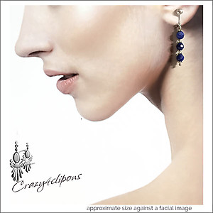 Sophisticated Lapis Lazuli Earrings | Your choice: Pierced or Clip on