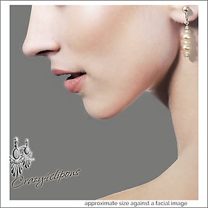 Moonstone & Pearls Earrings | Your choice:  Pierced or Clip on