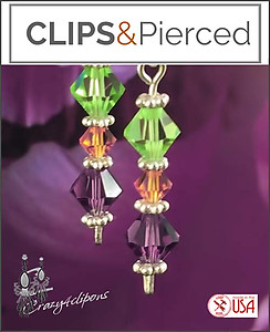Swarovski Crystals Earrings | Your choice: Pierced or Clip on