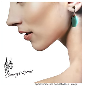 Summer Turquoise Earrings| Pierced & Clip Ons