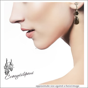 Small Teardrop Earrings | Your choice:  Pierced or Clip on