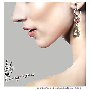 Dangling Crystal Earrings | Pierced & Clip Ons