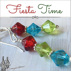 Fiesta Fun Earrings | Your choice: Pierced or Clip on
