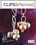 Multi-colored Glass Pearl Earrings | Your choice: Pierced or Clip on