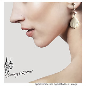 Ballerina Girl Earrings | Your choice:  Pierced or Clip on