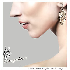 Romantic Filigree Bridal Earrings