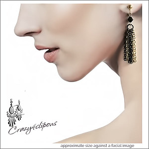 Eclectic Chain Fringe Earrings
