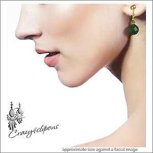 Small Crystal Earrings | Your choice:  Pierced or Clip on