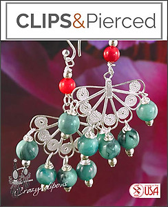 Spanish Style & Pizzazz Earrings | Your choice:  Pierced or Clip on