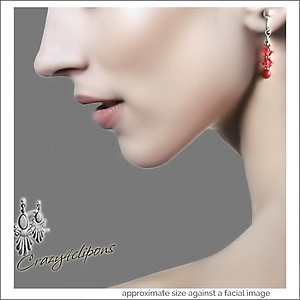 Pierced & Clip Earrings: Coral w/ Swarovski | Your choice:  Pierced or Clip on