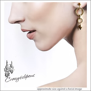 Golden Dangling Hoop Earrings