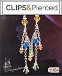 Crisp Swarovski Crystal Earrings | Your choice:  Pierced or Clip on