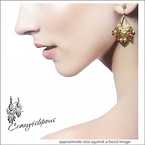 Vermeil Gold & Gem Earrings | Your choice: Pierced or Clip on
