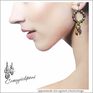 Colorful Autism Awareness Earrings | Your choice:  Pierced or Clip on