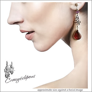Ethnic Glass Wire-wrapped Earrings