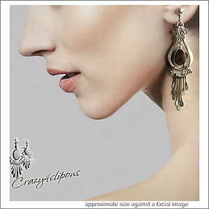 Bold Dramatic Ethnic Earrings | Pierced & Clip Ons
