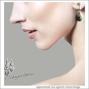 Small Teardrop Gem Earrings | Pierced & Clip Ons