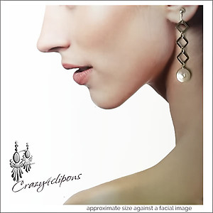 Freshwater Coin Pearls & Silver Earrings | Your choice: Pierced or Clips