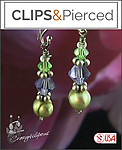 Pierced & Clip Earrings: Pearls w/ Crystals