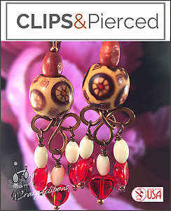 Artisan: Copper Handmade Earrings - Pierced or Clips